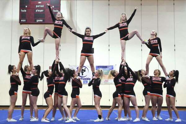 Shelton was runners-up at the Southern Connecticut Conference Cheer Championships.