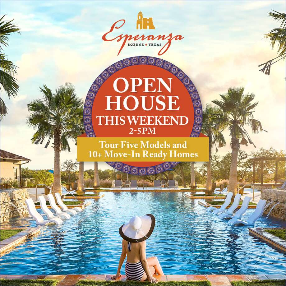 Esperanza is Boerne's first true master-planned community featuring 350 acres of open space and the most ambitious amenities center in Central Texas. Join us this Saturday & Sunday from 2-5 PM for our Open House featuring five Model Homes, 10+ Move-in-Ready homes and VIP Tours of The Club - our 11-acre resident's center. Learn about limited time builder incentives and search available homes ranging from the $300s to $1 Million+ at www.MyEsperanza.com. 