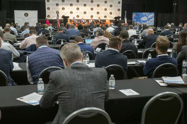 A full house listens to presentations of water usage 02/19/2020 at the Permian Basin Water in Energy Conference at the Nidland County Horseshoe Arena. Tim Fischer/Reporter-Telegram