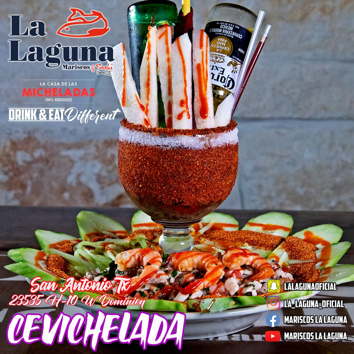 The extravagant micheladas are topped with a variety of items such as shrimp, stuffed celery and ceviche. According to its website, the prices for a michelada range from $8 to $40. The forty-dollar drink is a three-tier michelada that is meant to be shared with others.