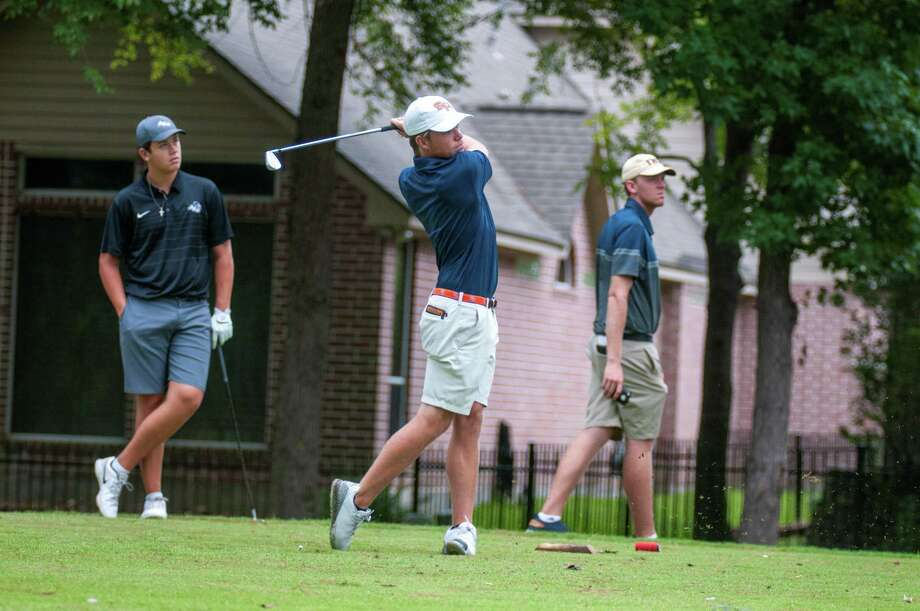 Sam Houston State golfer Jack Randle tees off during the All-American Intercollegiate at the Golf Club of Houston this week. Photo: Sam Houston State Athletics