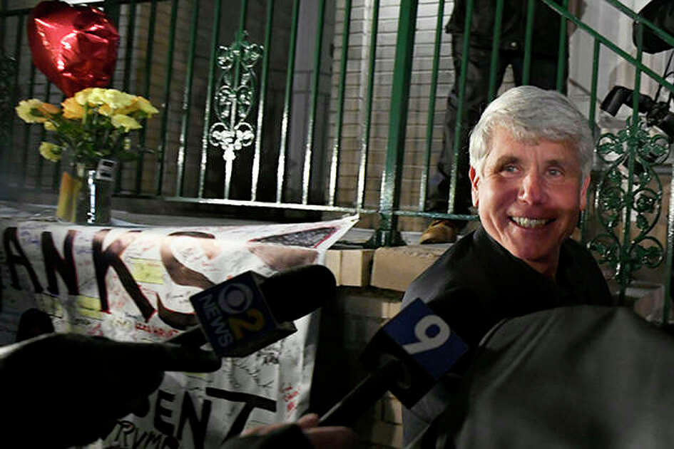 Former Gov. Rod Blagojevich smiles as he arrives home in Chicago on Wednesday after his release from a Colorado prison. Blagojevich walked out of prison Tuesday after President Donald Trump cut short his 14-year sentence for political corruption.