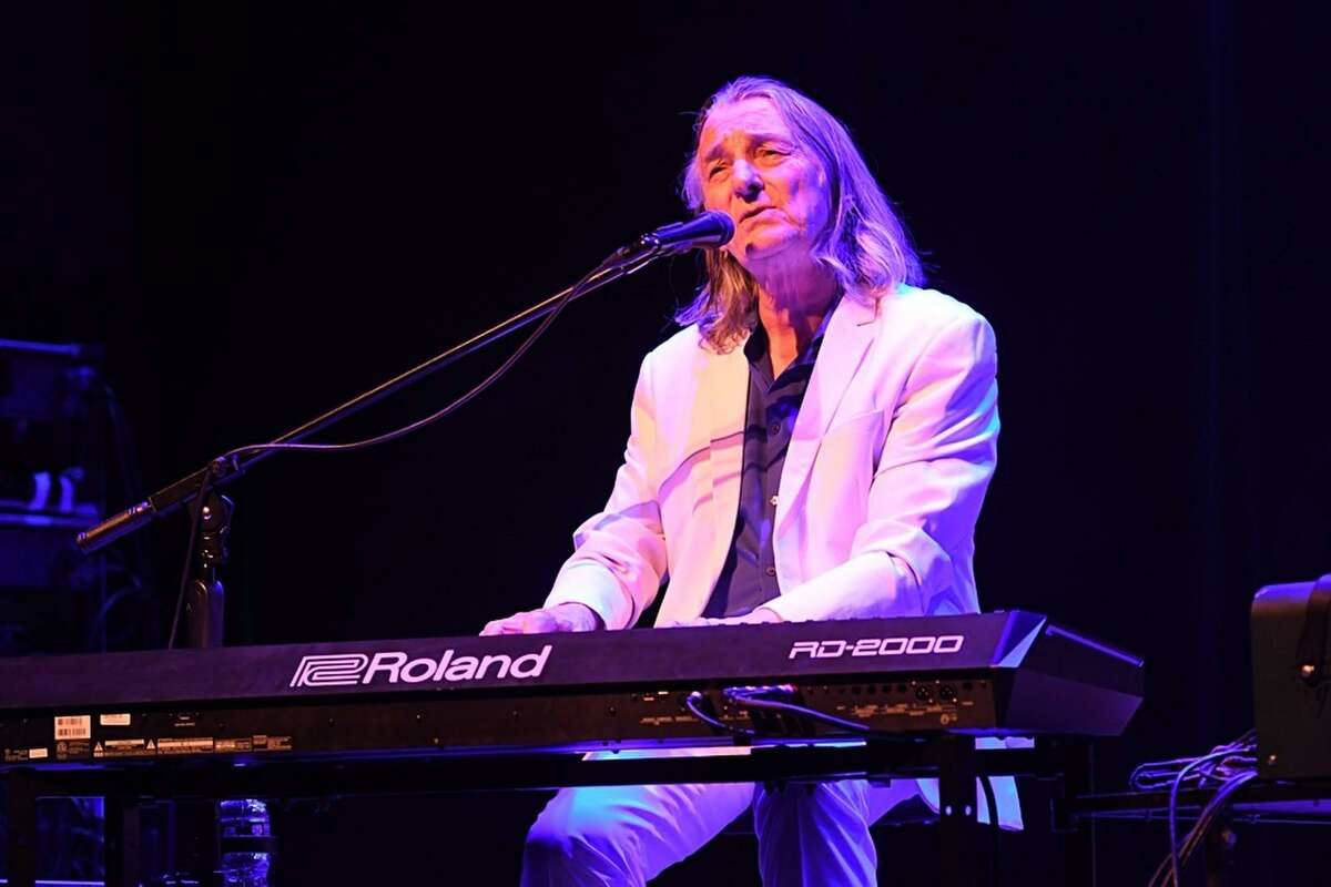 """Musician, singer and songwriter Roger Hodgson performs at the Ridgefield Playhouse in in Ridgefield Feb. 15, 2020. Roger Hodgson co-founded Supertramp in 1969 and performed with them until 1983. He left the band after """"Famous Last Words"""" to spend time with his young family. Since, he's released three solo albums. He wrote many of his hits while still in his teens, including It's Raining Again, Give A LIttle Bit and Breakfast In America before he had formed Supertramp. The prog-rock icon is back, however, with his 40th Anniversary """"Breakfast In America"""" World Tour. Roger's name might not be familiar to everyone but the voice is instantly recognizable."""