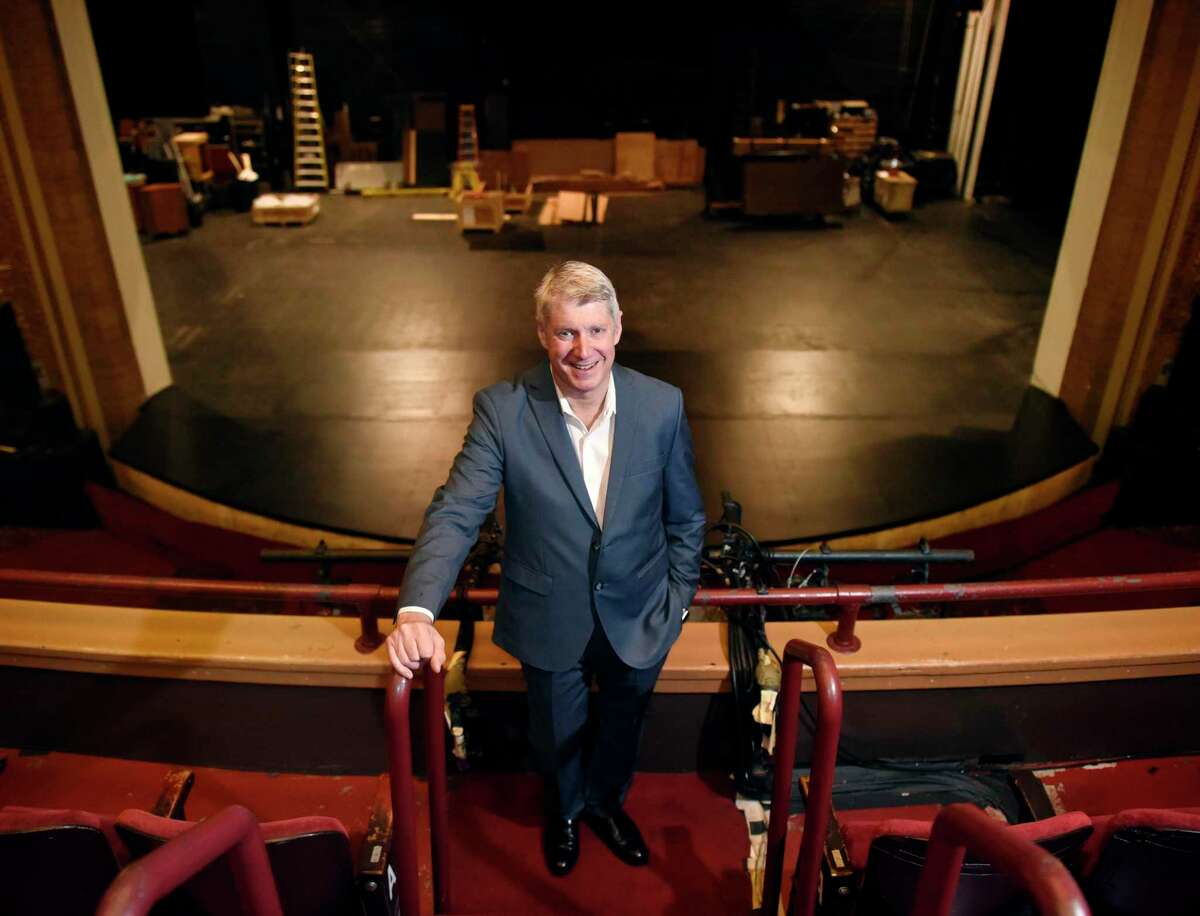 Stamford Symphony's Michael Stern, poses at the Palace Theatre in Stamford, Conn. Monday, Sept. 9, 2019.