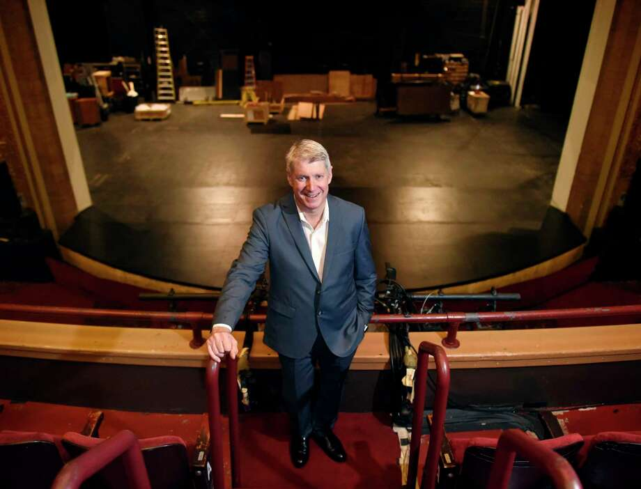 Stamford Symphony's Michael Stern, poses at the Palace Theatre in Stamford, Conn. Monday, Sept. 9, 2019. Photo: File / Tyler Sizemore / Hearst Connecticut Media / Greenwich Time