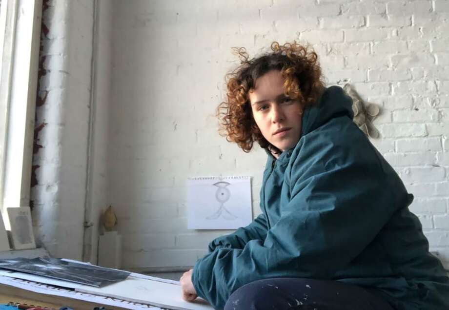 Former Artist-in-Residence Hannah Sklar in her studio in Providence, R.I. Photo: Contributed Photo / / Wilton Bulletin Contributed