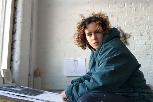 Hannah Sklar in a studio in Providence, R.I., is Weir Farm's February artist-in-residence.
