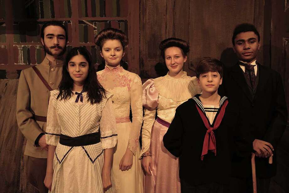 Dayo Garritano of Wilton, at far right, joins his classmates in a production of The Secret Garden at the Wooster School. Photo: Contributed Photo / Wooster School / Wilton Bulletin Contributed