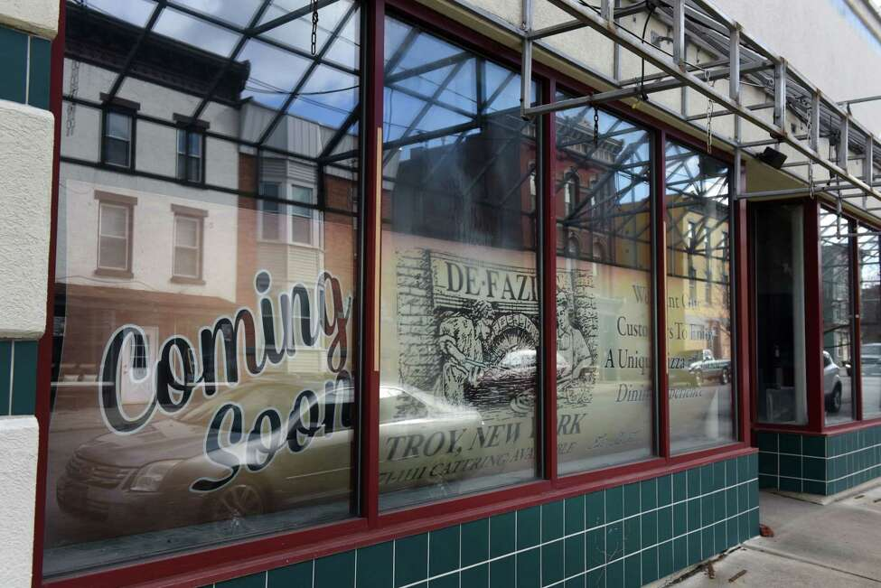 Exterior of the former Vanilla Bean bakery building on Wednesday, Feb. 19, 2020, on Fourth Street in Troy, N.Y. Rocco DeFazio has sought to convert the building into a center for Italian eating. (Will Waldron/Times Union)