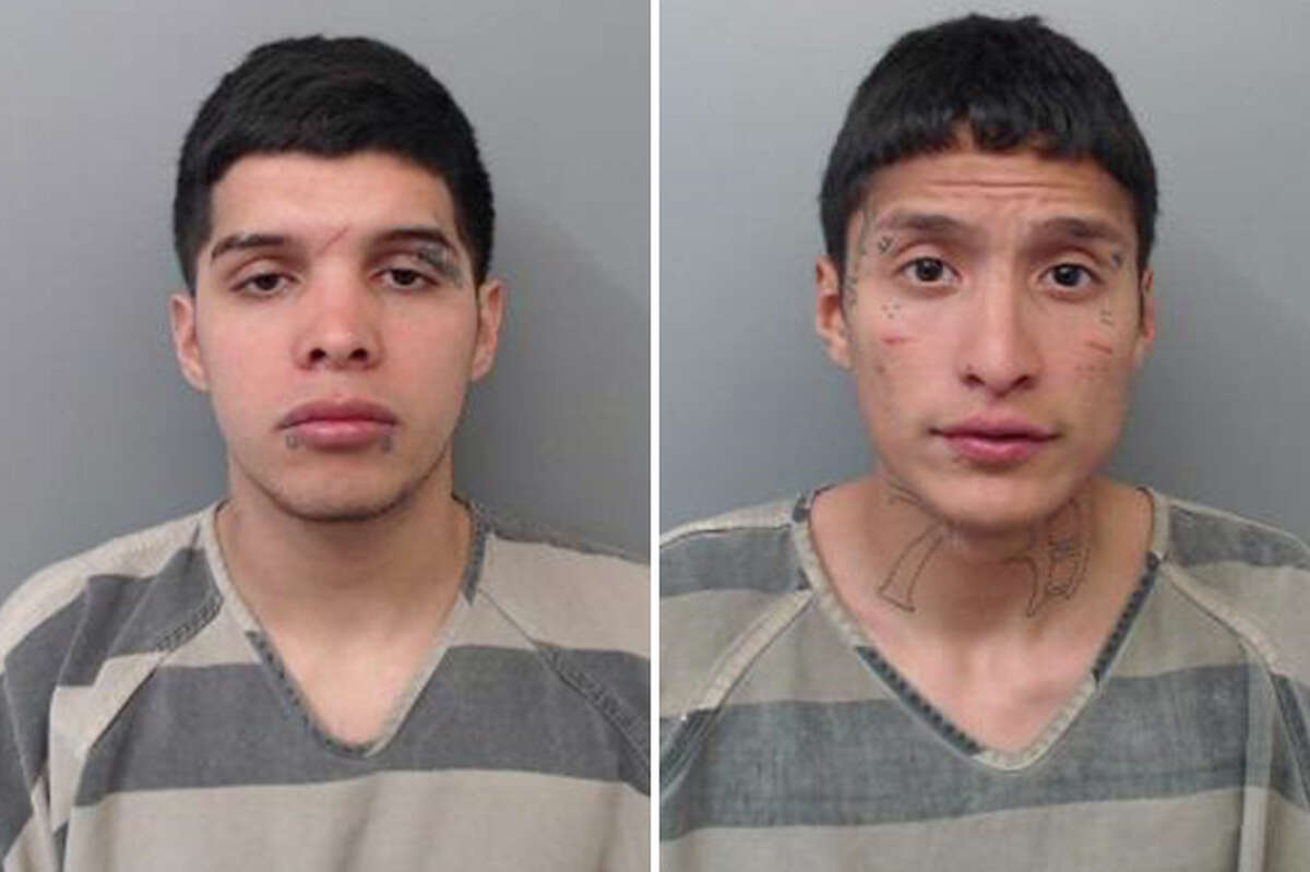Two men were arrested Tuesday for beating up a male and taking his cellphone, according to Laredo police.