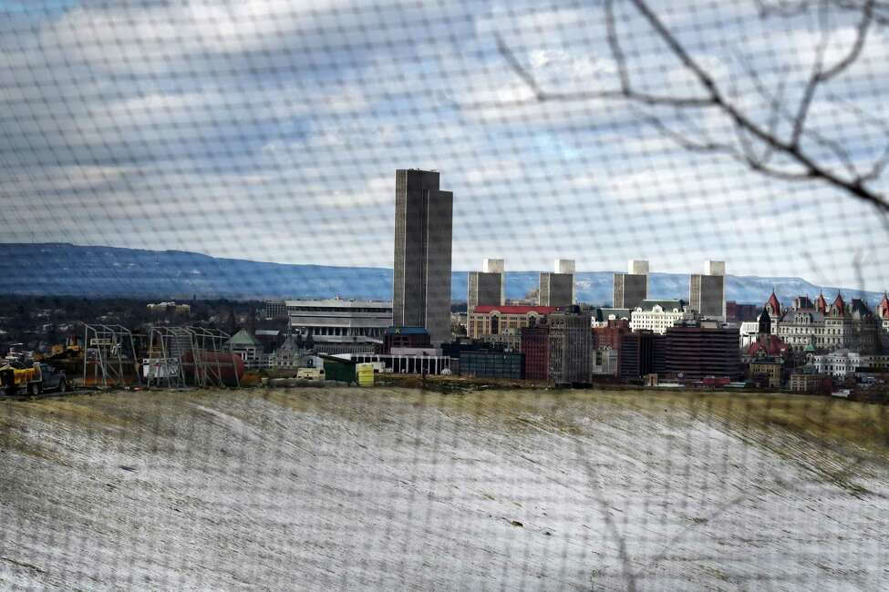 Waste is dumped at Dunn Landfill as the colossal trash mountain slowly inches above Albany on Wednesday, Feb.19, 2020, in Rensselaer, N.Y. (Will Waldron/Times Union)