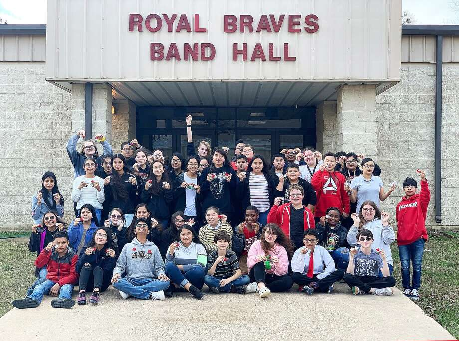 The Cleveland Middle School Warrior Band attended the UIL Solo and Ensemble contest and earned 155 first- ivision medals Photo: Submitted