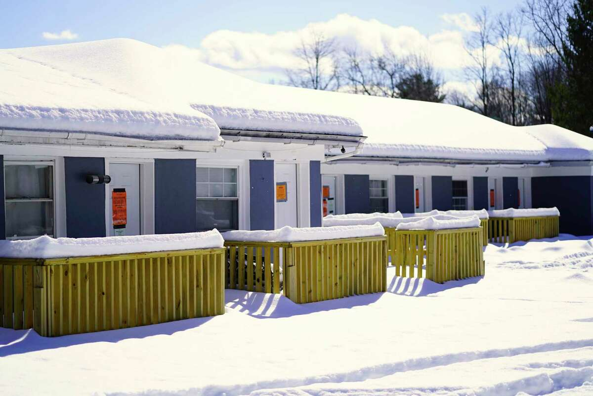 A view of the now closed down Crest Inn motel, seen here on Wednesday, Feb. 19, 2020, in Gansevoort, N.Y. (Paul Buckowski/Times Union)