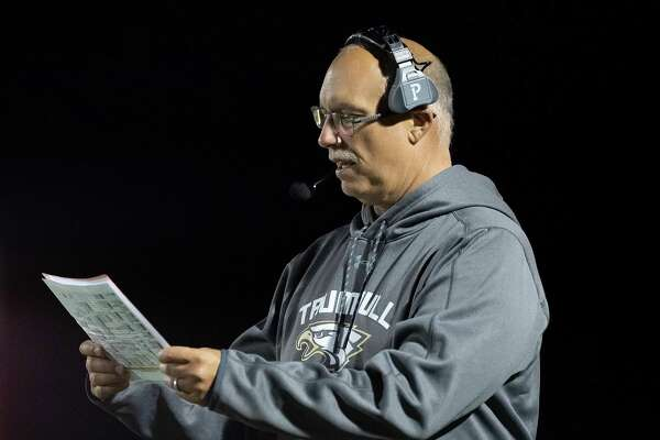 Marce Petroccio was inducted into the Connecticut High School Hall of Fame, the FCIAC Hall of Fame and the Greater Bridgeport Hall of Fame in 2014. Trumbull High football coach Marce Petroccio during the game against Darien High, Friday, October 4, 2019 at Trumbull High School