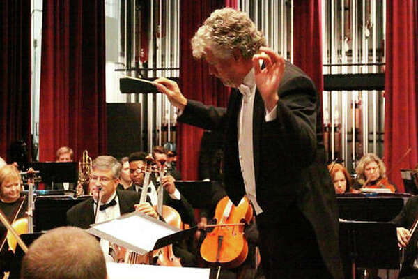 """Alton Symphony Orchestra (ASO) Maestro Wm. Shane Williams conducts the orchestra, as he will for ASO's upcoming concert, """"For the Shakespearean Soul,"""" bringing compositions from some of Shakespeare's most famous works to life."""
