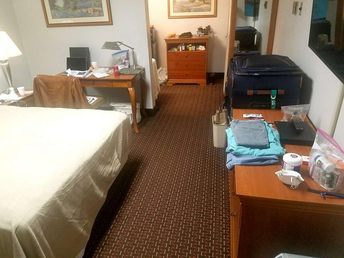 The Menascos' room at Lackland Air Force Base, where they are serving a two-week quarantine, is not as luxurious as the one-bedroom cabin with private balcony they had on the Diamond Princess cruise ship, where they spent almost two weeks in isolation following a coronavirus outbreak.