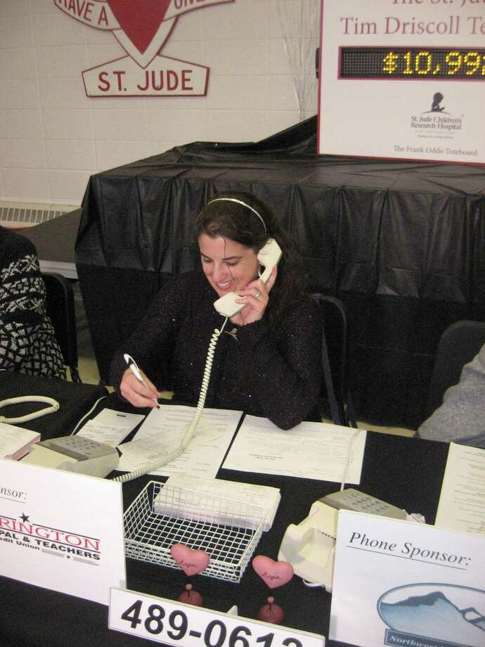 The 41st annual Tim Driscoll St. Jude Children's Research Hospital Telethon will be held March 1 at Torrington High School. Above, a volunteer takes a donation call at the 2019 telethon. Photo: John Torsiello / Hearst Connecticut Media /
