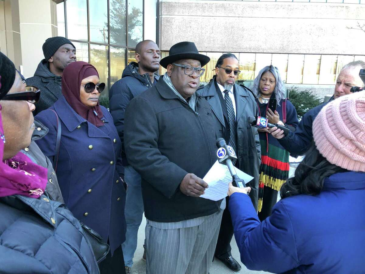 The Rev. Boise Kimber and members of the Soulemane family met with state police Commissioner James Rovella Wednesday morning.