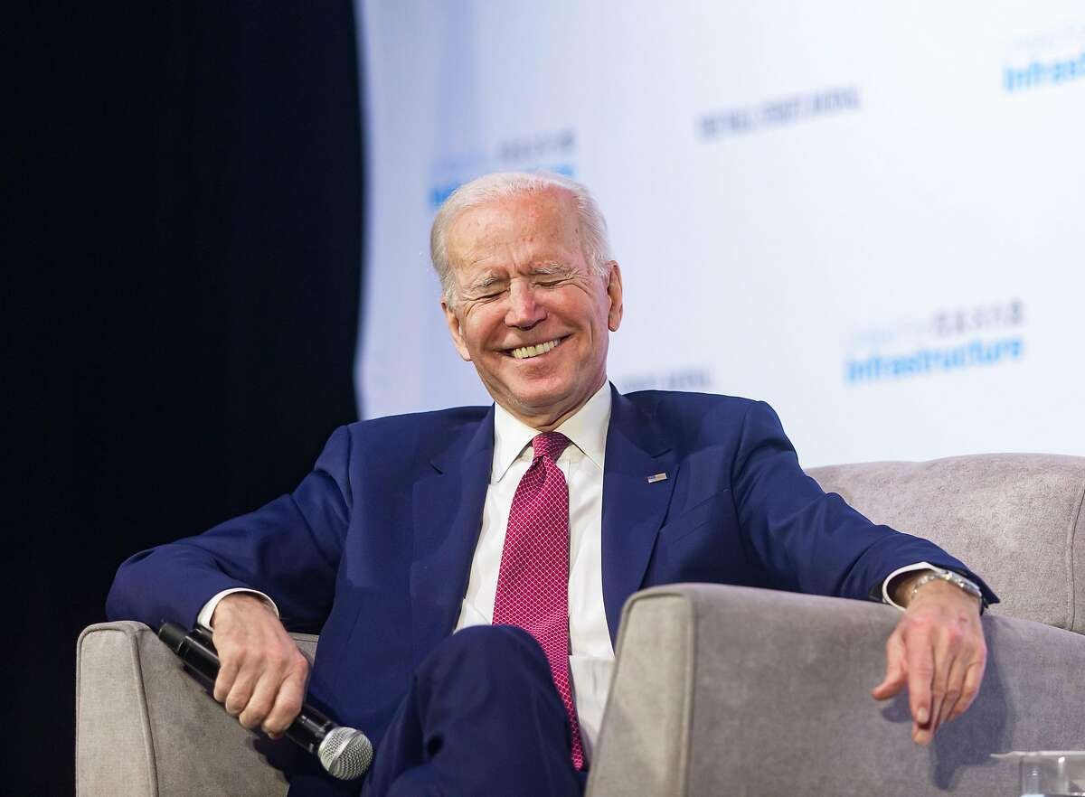 Democratic presidential candidate and former Vice President Joe Biden speaks during a candidate forum on infrastructure at the University of Nevada, Las Vegas, in Las Vegas on Sunday, Feb. 16, 2020.