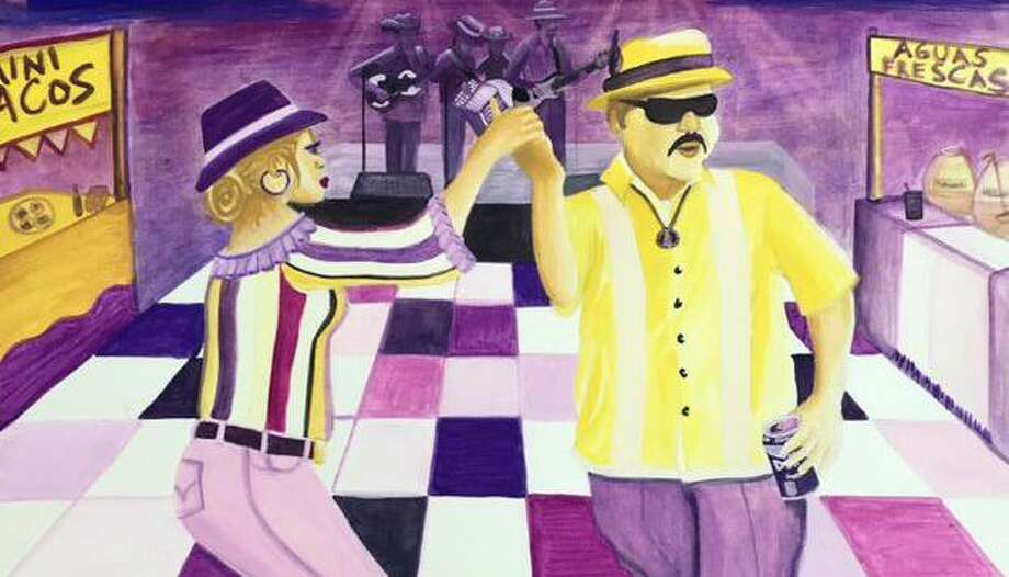 Gloria Chavera's image of a couple dancing was the overall winner of the 2020 Tejano Conjunto Festival poster contest. Photo: Guadalupe Cultural Arts Center