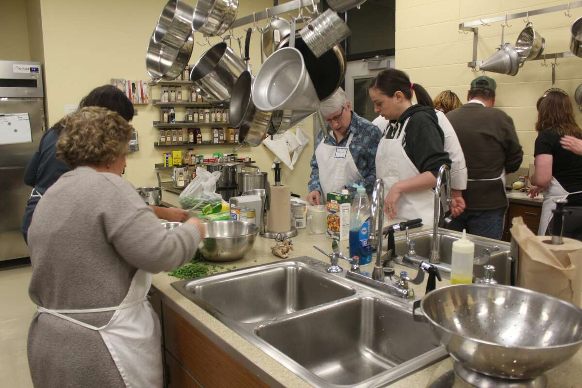 Area residents learned about using food as a tool in achieving a healthier lifestyle during a culinary medicine class Wednesday night as part of the annual Festival of the Arts. The event was hosted by Spectrum Health Hospital and Ferris State University's hospitality management program.