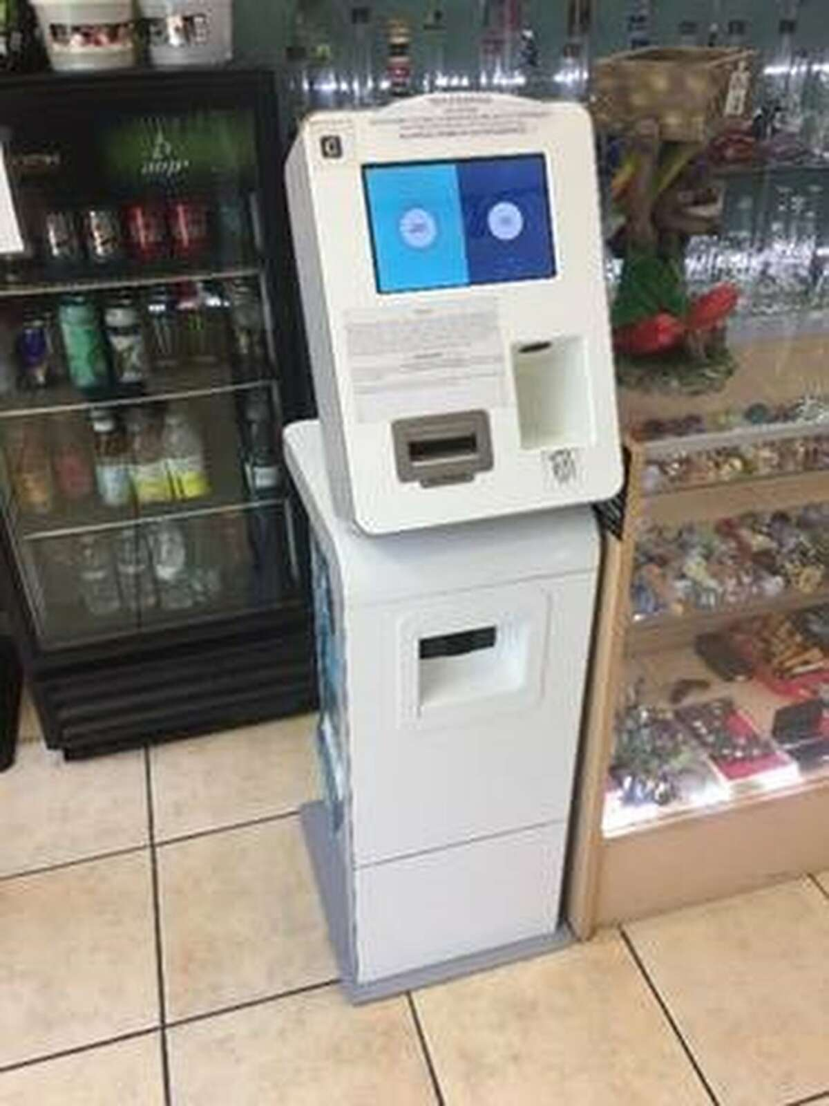 An ATM kiosk is seen in an undated courtesy photo provided Monday, Aug. 26, 2019 by the Central District of California U.S. Attorney�s Office. In prosecuting Kunal Kalra for money laundering in Los Angeles and San Antonio, federal agents found he had this kiosk at his money-remitting business in Los Angeles that drug dealers used to exchange virtual currency for real cash and vice versa.