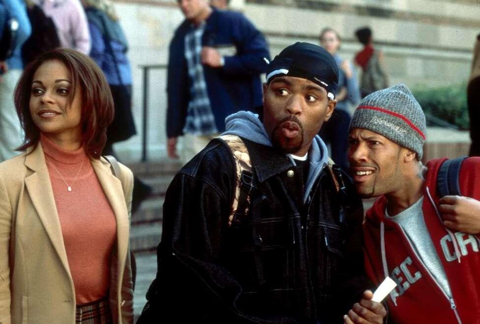 'Lauren' (Lark Voorhies) shows some Harvard sights to 'Silas' (Method Man, center) and 'Jamal (Redman) in Universal Studios' 'How High'. (AP Photo/Sam Urdank)