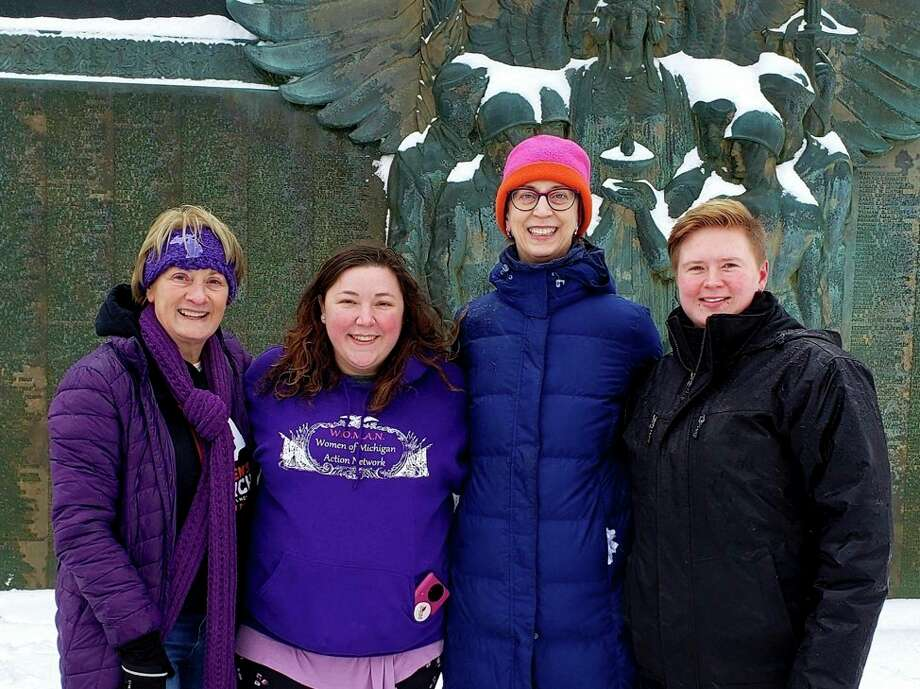 Members of the WOMAN leadership team, from left, Carol Arnosky, Alaynah Smith, Allison Wilcox and Casey Hillstrom. Not pictured, Cherie Marks. (Photo provided/WOMAN)
