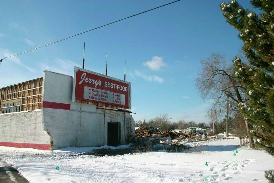 Lake County has received a grant from EGLE to help fund the clean up of the former Jerry's grocery store site. The clean up will involve demolition of the existing buildings and removal of 500 tons of contaminated soil. (Star photo/Cathie Crew)