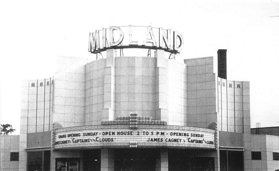 """The Midland Theatre opened for business May 23, 1942. We stood in line to buy a ticket to see James Cagney in """"Captain of the Clouds."""" (Photo provided)"""
