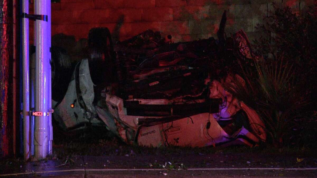 One man is dead after crashing a stolen vehicle near Callaghan and Evers Thursday morning.