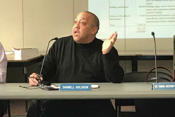 Board of Education member Darnell Goldson on Feb. 19, 2020.