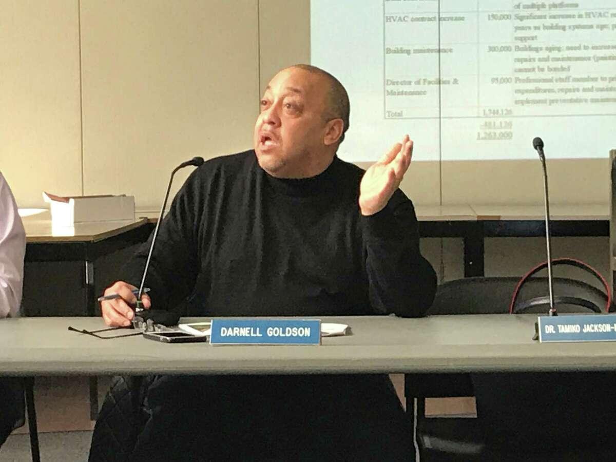 Board of Education member Darnell Goldson on Feb. 19, 2020.