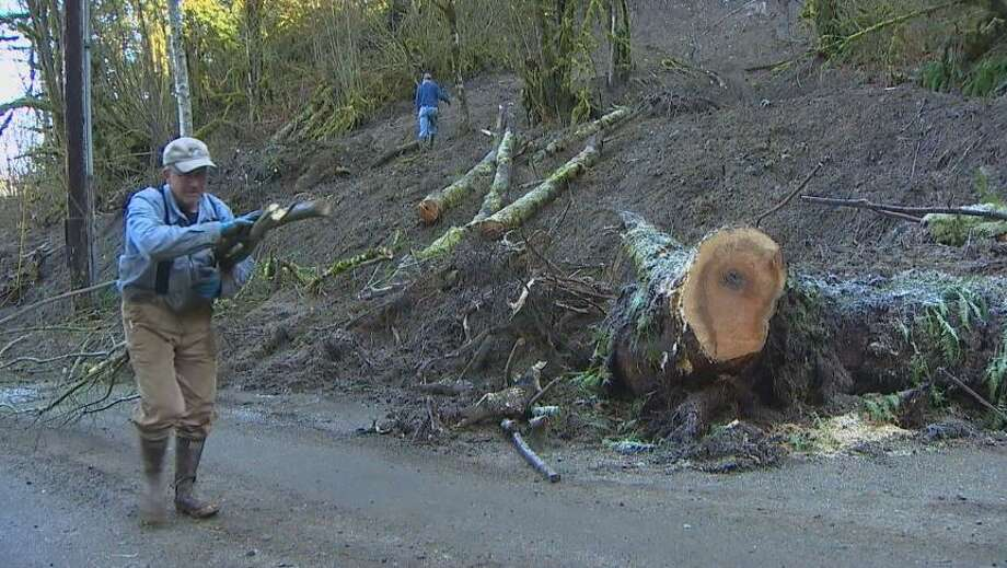 After a landslide isolated more than 100 Monroe residents two weeks ago - a temporary fix is in sight. Photo: Courtesy Of KOMO News