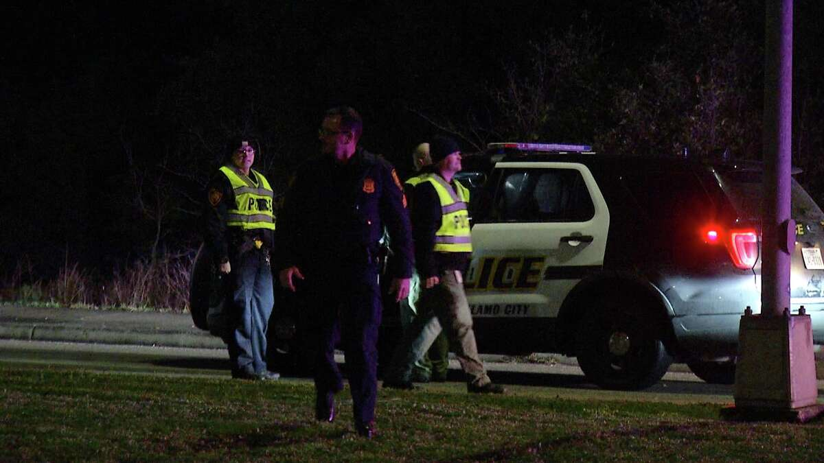 An elderly woman was killed after crashing into a tree near the 14200 block of Huebner Road early Thursday morning.