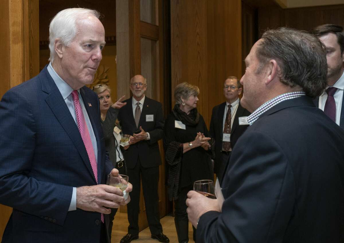 U.S. Sen. John Cornyn talks with attendees Wednesday night at the Permian Basin Water in Energy Conference dinner, where he was the keynote speaker. Scenes from the Permian Basin Water in Energy Conference>>>