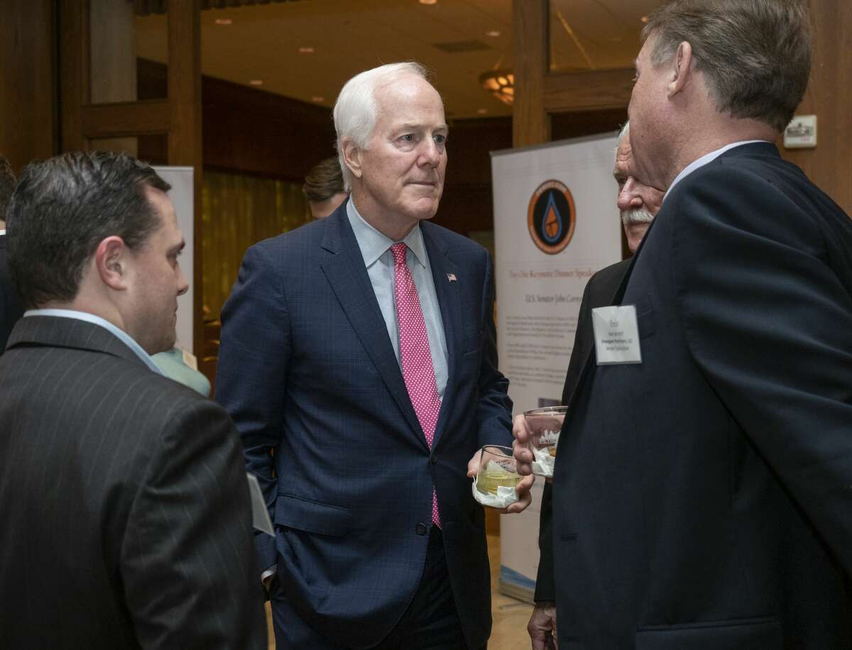 Senator John Cornyn talks with attendees 02/19/2020 night at the Permain Basin Water in Energy Conference dinner, where he was the keynote speaker. Tim Fischer/Reporter-Telegram
