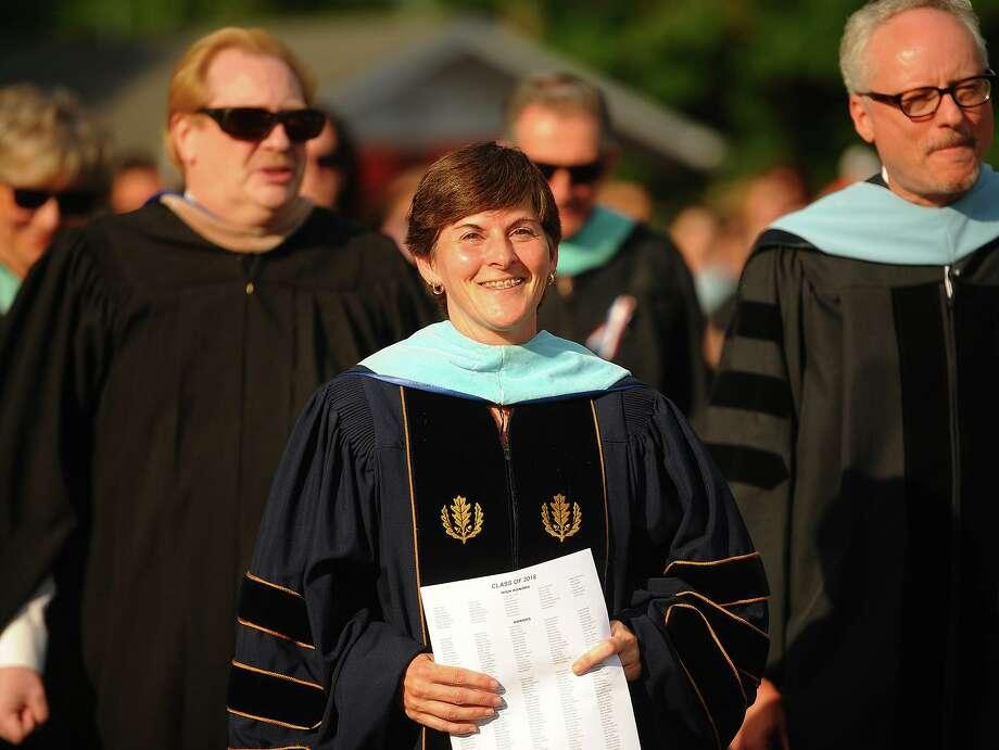 Headmaster Beth Smith. The Shelton High School graduation in Shelton, Conn. on Thursday, June 21, 2018. Photo: Brian A. Pounds / Hearst Connecticut Media / Connecticut Post