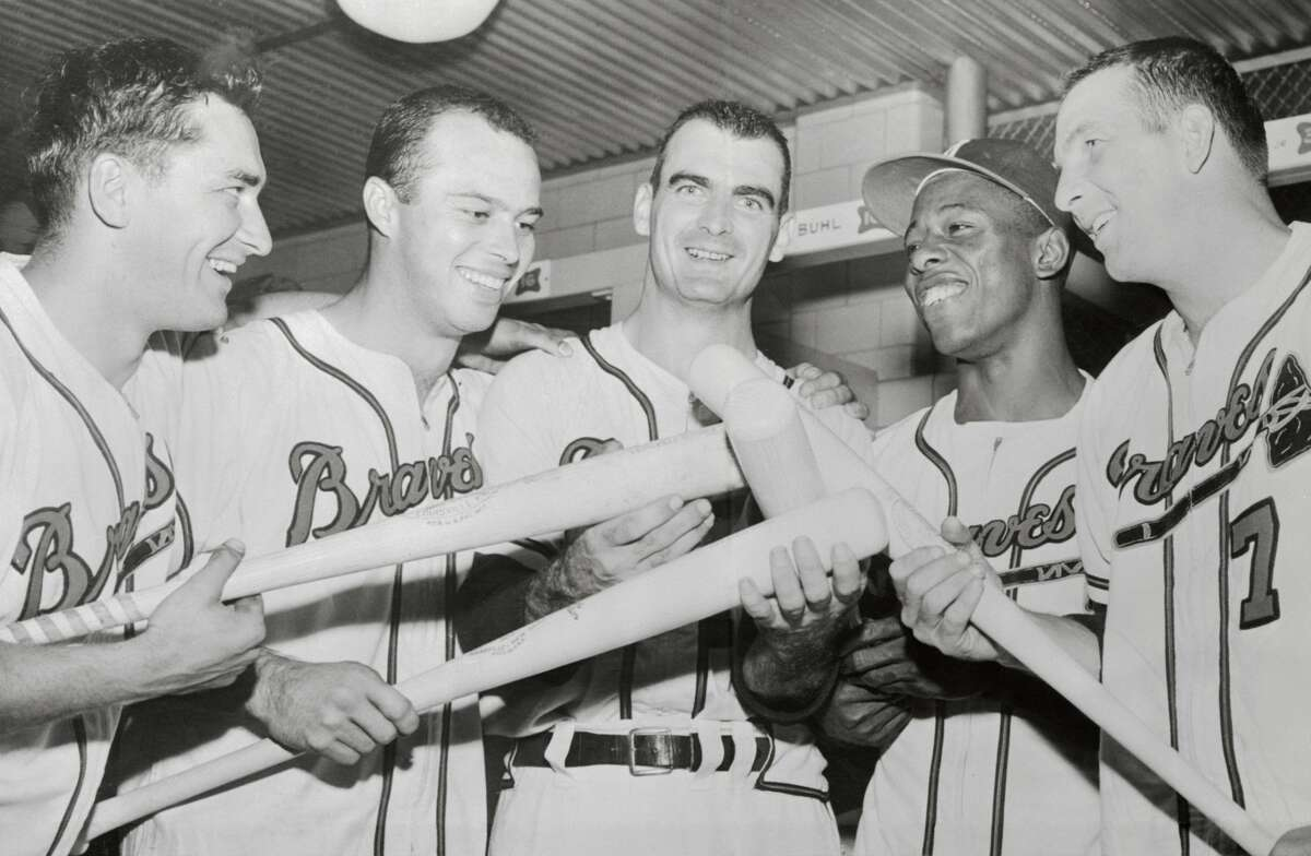 Atlanta BravesBraves general manager John Coppolella was banned for life in 2017 after he flagrantly circumvented rules regarding the signing of international free agents. The Braves also had to release 12 prospects they signed as a result. In 1960, Braves pitchers Bob Buhl and Joey Jay were spotted sitting in the bleachers at Wrigley Field dressed like fans, using binoculars to  relay signs to their team's hitters. Lew Burdette, who won three complete games in the 1957 World Series won by the Milwaukee Braves, was never suspended for throwing a spitball of which he was long suspected of throwing. Two-time World Series champion Don Hoak once said,