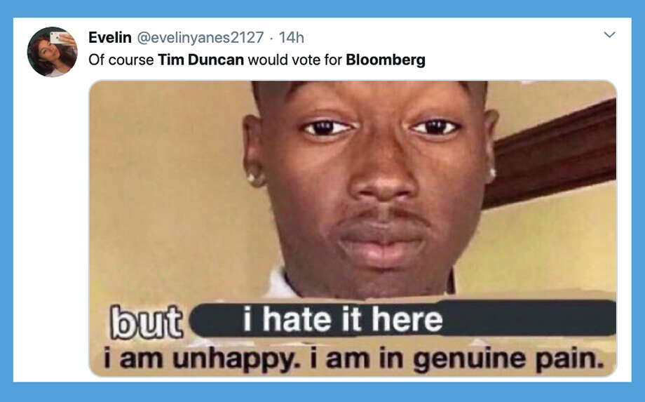 Twitter reacts to Tim Duncan's endorsement of Mike Bloomberg for president. Photo: Twitter