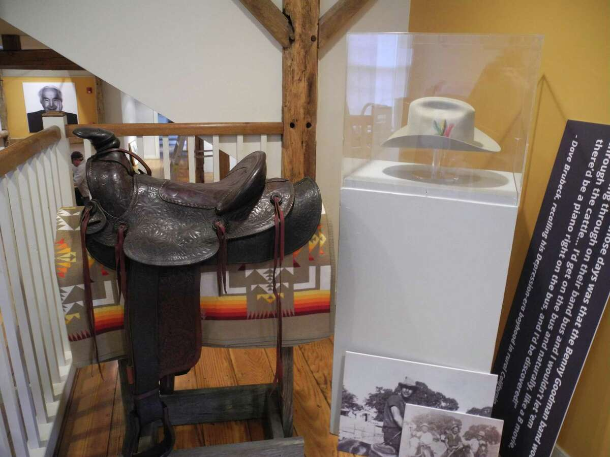 A saddle that once belonged to Dave Brubeck's father, and Dave Brubeck's cowboy hat are part of the Wilton Historical Society's upcoming exhibition, Remembering Dave: A Brubeck Family Album, opening Feb. 21.