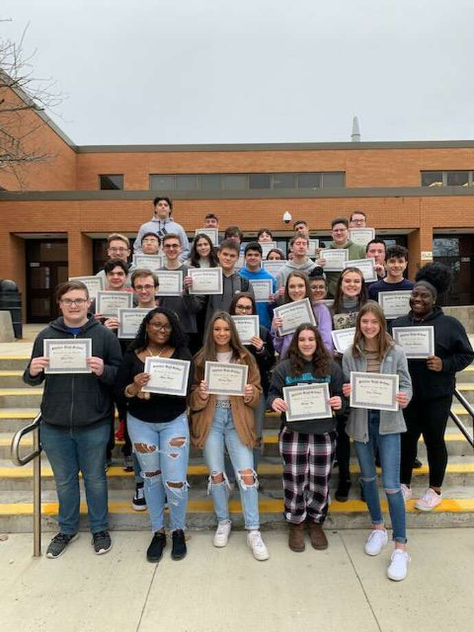 Shelton High School's January students of the month. Photo: Contributed Photo / Connecticut Post