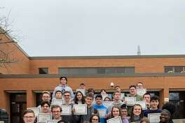 Shelton High School's January students of the month.