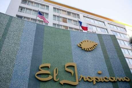Outside El Tropicano before renovations begin at the hotel San Antonio, Texas, Feb. 13, 2020.