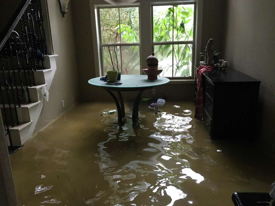 Two watershed study groups are investigating what should be done to prevent scenes like this in in Gerald Johnson's Dickinson home, which flooded during Hurricane Harvey. Photo: Courtesy Of Jacob Medina