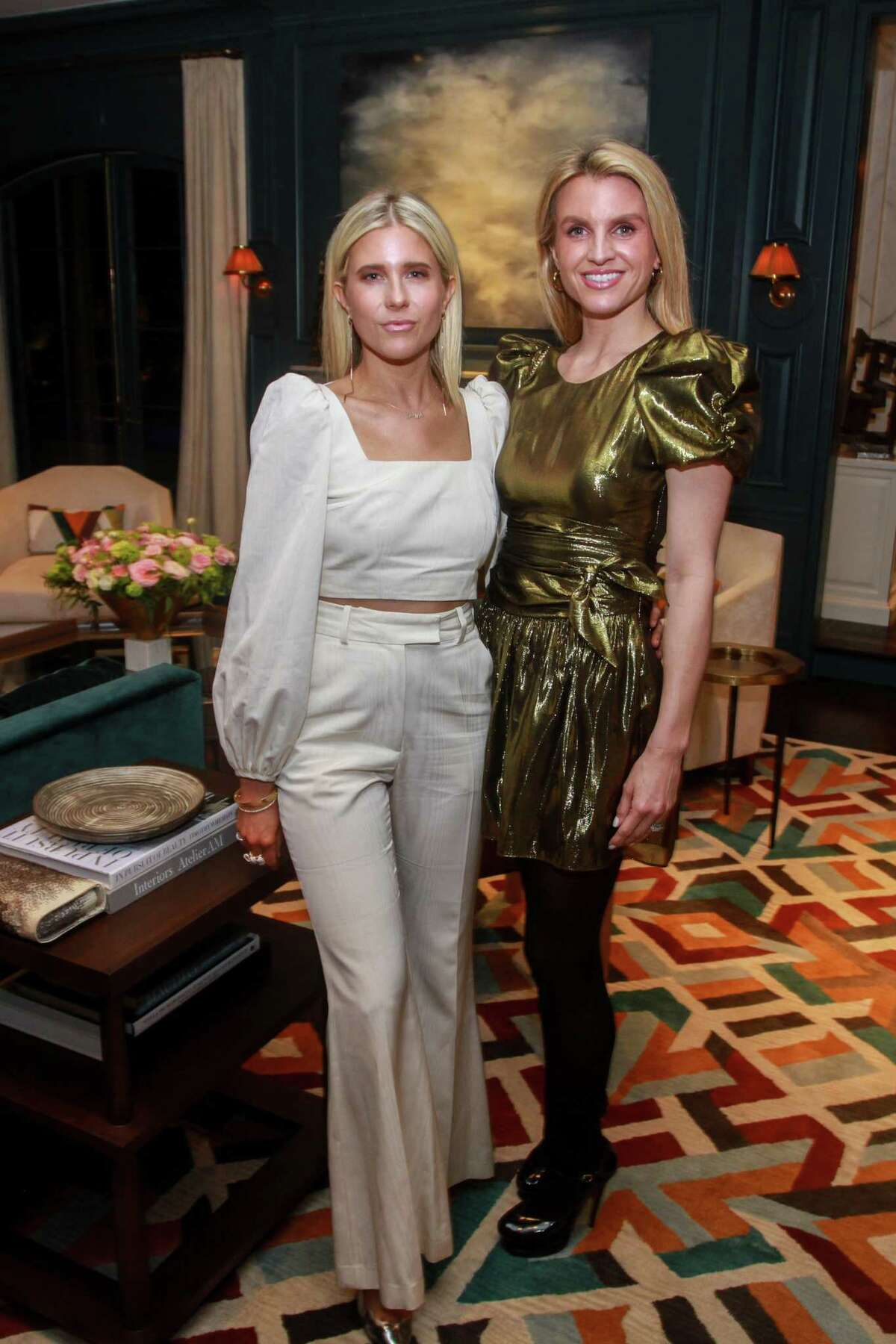Lindley Arnoldy, left, and Allie Fields at a cocktail party for Best Dressed honorees in Houston on February 19, 2020.