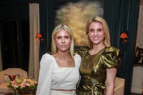 EMBARGOED FOR SOCIETY REPORTER UNTIL FEB. 25 Lindley Arnoldy, left, and Allie Fields at a cocktail party for Best Dressed honorees n Houston on February 19, 2020.