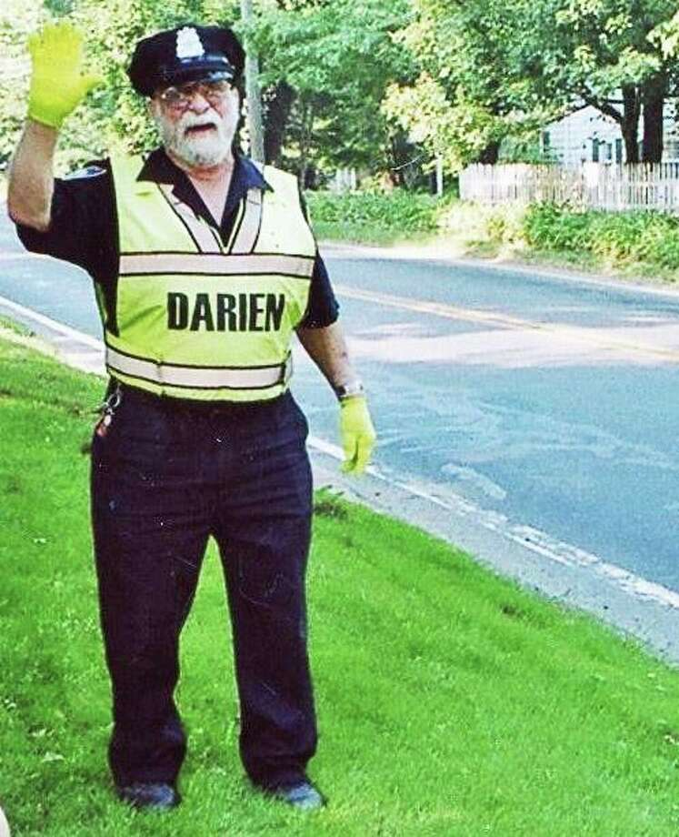 Bob, a longtime Darien crossing guard who lived in Norwalk, died recently at 93. Bob served during World War II in a bomber plane. Photo: Contributed Photo