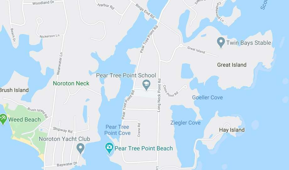 Pear Tree Point Road is currently closed from near the Ring's End Bridge to Pear Tree Point Beach for dangerous tree removal. It may be closed part of Friday as well. Photo: Contributed