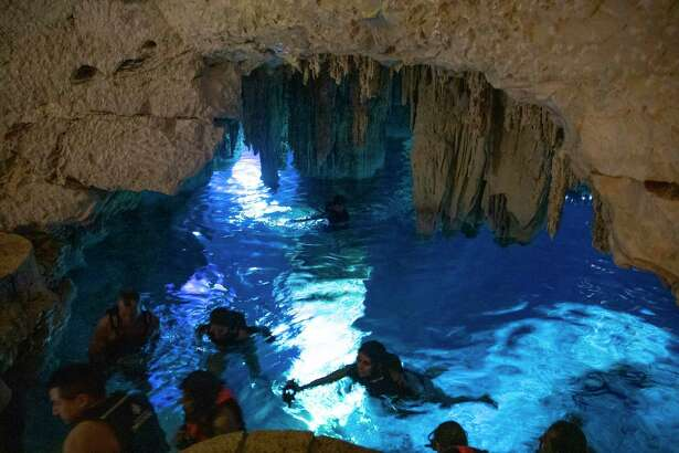 The Cenote Hacienda Mucuyche is located in the municipality of Abala, Yucatan, less than an hour south from Merida, Yucatan. This cenote in particular, visitors can take in underground stalactites and stalagmites.